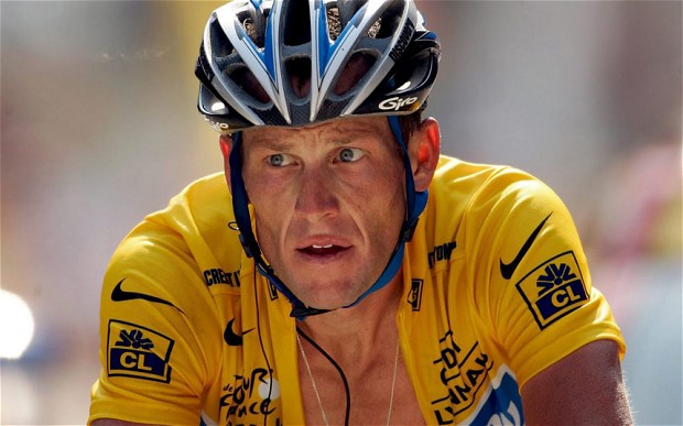 Armstrong in the final moments of the 2003 Tour De France.