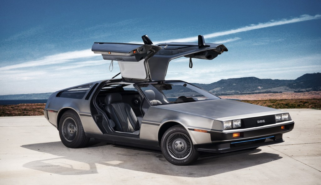 The DMC12, the first (and last) car produced by the DeLorean Motor Company.