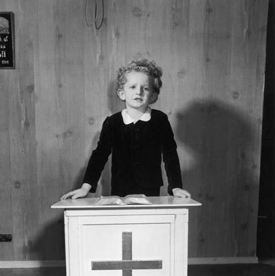 Little Marjoe Gortner, child preacher.