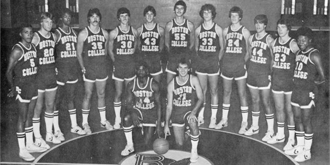The Boston College Eagles, 1978-1979 (Rick Kuhn is 4th from the left)