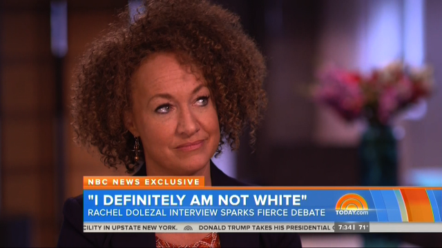 Rachel Dolezal, noted white woman, 2015.