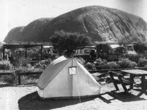 The Chamberlains' tent as it appeared at Ayer's Rock In August, 1980.