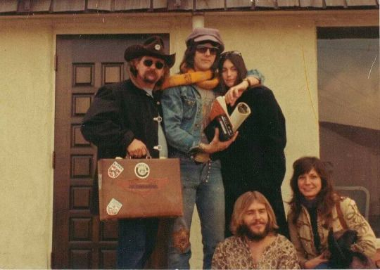 Gram Parsons, Emmylou Harris, and Phil Kaufman, circa 1973.