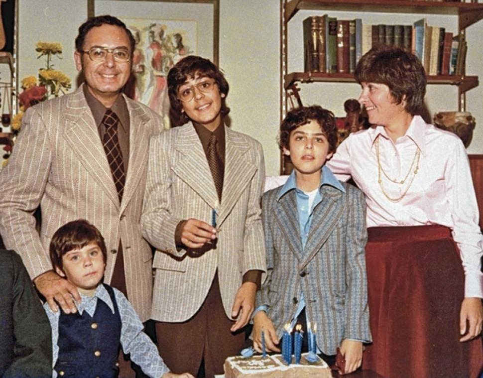 The Friedman family during happier times.