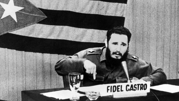 Fidel Castro, looking like someone just hurt his feelings.