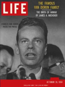 LIFE Magazine cover featuring Charles Van Doren,  October 1959