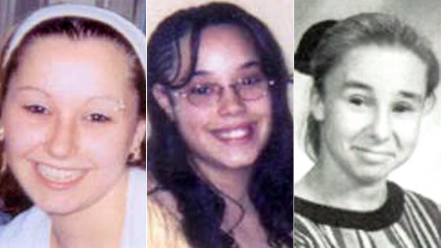 Amanda Berry, Gina DeJesus, and Michelle Knight as they appeared shortly before disappearing.